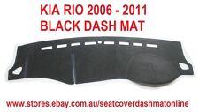 DASH MAT, BLACK DASHMAT, DASHBOARD COVER FIT KIA RIO 2006-2011, BLACK