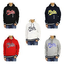 """Polo Ralph Lauren Polyester Pullover Hooded Hoodie Sweatshirt w/ cursive """"POLO"""""""