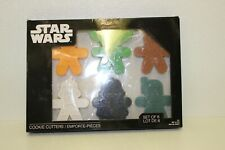 New listing Star Wars Set Of 6 Cookie Cutters New In Box-Vader-Yoda-Boba-C3Po- Trooper-Chewba