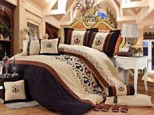 7 Piece  Jacquard Duvet Cover Set Complete Luxury Bedding Set Queen 220x240,