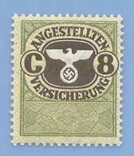 Germany Nazi Third Reich  Swastika Eagle Revenue C 8 Stamp MNH WW2 ERA