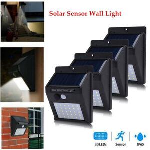 30LEDs Solar Lampe mit Bewegungsmelder Außen Fluter Sensor Strahler Solarleuchte