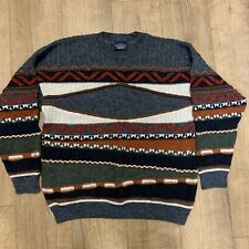 Vintage Sweater Shop Jumper Knit Mens Pullover Large Alpaca Wool Blend 90s Retro