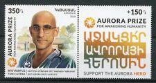 Armenia 2018 MNH Tom Catena Aurora Prize Laureate 1v Set + Label Medical Stamps