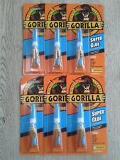 6 x Gorilla Glue Super Glue 3g Tubes