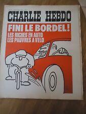 CHARLIE HEBDO N°165 RICHE PAUVRE AUTO VELO VOITURE GEBE CABU 14 jan 1974 REISER