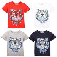 2019 Summer 2-13Y Kids' Boys Girls Sports Short-sleeved T-shirt 4 Color