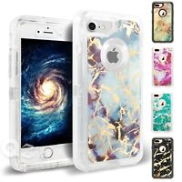 For iPhone 6 7 8 Plus Marbel Shockproof Protective Hard Defender Case Cover