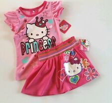 Hello Kitty Princess Outfit-Girls size 6 Skirt& Top-Sanrio-Pink-Macy'-s NWT's