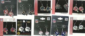 NFL Helmet Earrings Logo Dangle Earrings Pick Your Team