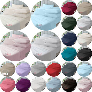 """Extra Deep Fitted Sheets 40CM 16"""" Single Double King Super King,YAW"""