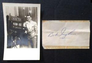 1950s KSD-TV (KSDK) SIGNED PHOTO of Sportscaster BOB INGHAM