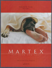 Sleeping Dog Martex Sheets Bed Vintage Magazine Print Ad 2001