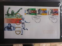 AUSTRALIA 1996 ATLANTA OLYMPIC GAMES SET 3 STAMPS 100yrs FIRST DAY COVER