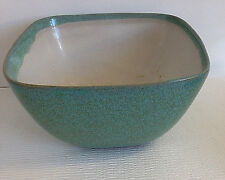 Glidden Pottery Turquoise Square Planter Bowl Rounded Corners Mid Century MCM 8""