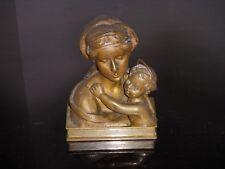 STATUE VIERGE ENFANT BRONZE ANCIEN
