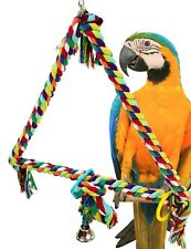 New listing 1059 Huge Triangle Rope Ring Bird Toy parrot cage toys cages conure african grey