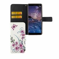 Protective Case for Mobile Phone Nokia 7 Plus Lotus Flower Cover Wallet