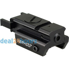 Tactical Low Profile Compact Red Laser Sight 20mm Picatinny Weaver Rail Mount