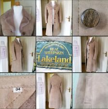 *Used* Gorgeous Ladies ♡LAKELAND♡ Long Winter Coat~Sheepskin~Beige~Brown~Size 34