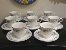 GORHAM SWEET VIOLET CUPS AND SAUCERS SET OF 8