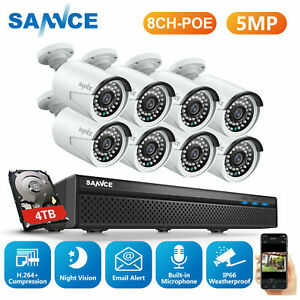 SANNCE Ultra HD 5MP POE Audio Recording 8CH NVR Security IP Home Camera System