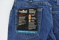 Carhartt Womens FR Blue Jeans Size 6 x 32 Length Denim Work Pants Relaxed Fit
