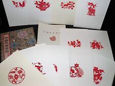 ART CHINOIS Les Découpures de Papier Chinese Paper-Cuts 20 PLANCHES COMPLET RARE