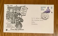 First Day Cover - 50th Anniversary Of The Sufragette Movement - 1968