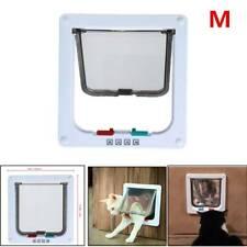 Magnetic Lock Windproof 4-Way Pet Cat Kitten Lockable Safe Flap Door 5.5cm Thick