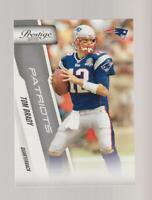 2010 Panini Prestige #118 Tom Brady card, New England Patriots