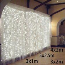 Luces de Navidad Fantasía Garland Exterior Hogar Decoración 3x1/3x2/4x2m LED Carámbano Cadena