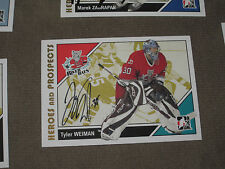 TYLER WEIMAN AUTOGRAPHED 2007-2008 ITG HEROES AND PROSPECTS CARD