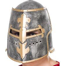 Mens Medieval Crusader Knight Helmet Fancy Dress Hat New by Smiffys
