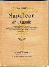 C1 NAPOLEON Jacoby NAPOLEON EN RUSSIE 1807 1812 Epuise 1938