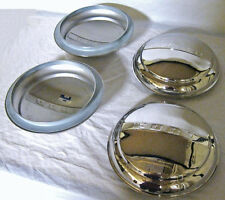 1947 - 1956 Ford Pickup Truck & 1947 1948 Car Logo Stainless Hubcap Set of 4