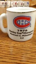 NHL STANLEY CUP CRAZY MINI MUG MONTREAL CANADIENS 1976 CHAMPS W/OPPONENT &SCORE