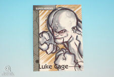 2013 Fleer Marvel Retro Luke Cage Sketch Card Albert Morales Original Base 1/1