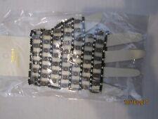 Vincero beaded fingerless glove black and silvertone B-5