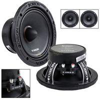"2 Orion Audio 6.5"" Mid Range Speakers 1400 W Watt Bass Loud 8 Ohm Pair XTX658"