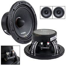 "2 Orion Audio 6.5"" Mid Range Speakers 1400 W Watt Bass Loud 8 Ohm Pair XTX658"