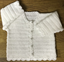 Easy Crochet Pattern for Baby's Round Neck Cardigan (Birth - 6 years) (1033)