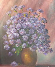 1990 Still Life with flowers oil painting signed