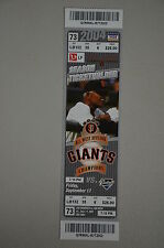 Barry Bonds 700 home run Season Ticket Holder Game Ticket Stub 9-17-04 SF GIANTS