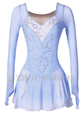 Ice Figure Skating Dress Gymnastics custome Dress Dance Competition Pale Bule