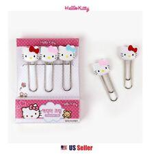 Sanrio Hello Kitty Cute Face Paper Clip Office School Stationery 5pcs Set