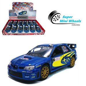 "Kinsmart 1:36 - Subaru Impreza WRC 2007 (Blue) - 5"" Diecast Toy Car"