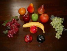 Faux Decorative Fruit - Apples, Banana, Grapes, Pears, Orange, Plum - Used
