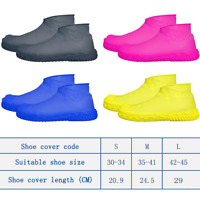 Waterproof Shoe Cover Reusable Anti-slip Rain Boot Motorcycle Bike Overshoes SML