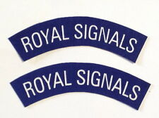 British Army ROYAL SIGNALS patches a pair.SCREEN PRINTED 2 patches